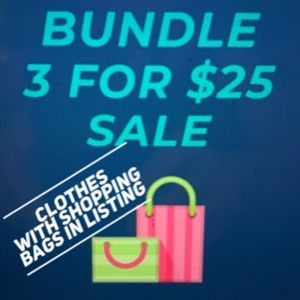 🛍️3 for 25 listings with shopping bags